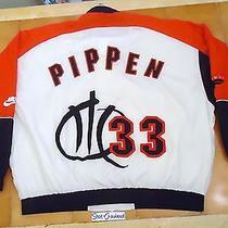 Vintage 90s Nike Flight Scottie Pippen Nba Jacket Jordan Bulls Hip Hop Xxl Rap Photo