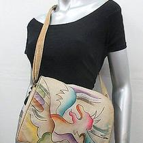 Vintage 90s Painted Leather Fantasy Pocketbook  Photo