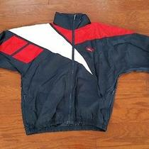Vintage 90s Reebok Windbreaker Warm Up Jacket Track Wind Breaker Logo Small S Photo