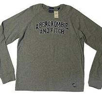 Vintage Abercrombie and Fitch Long Sleeve Shirt Gray Muscle Xl New W/ Tag Photo