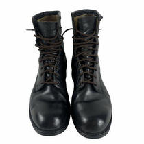 Vintage Addison Boot Company February 1979 Black Army Combat Boots Size 10 R Photo