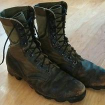 Vintage Addison Jungle Combat Military Named Combat Boots Photo
