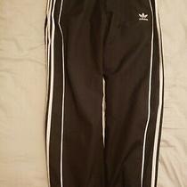 Vintage Adidas Black Windbreaker Athletic Running Nylon Pants Mens Size L Photo