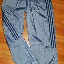 Vintage Adidas Blue Nylon Wind Pants Mesh Lining Large Athletic Blue Gym Running Photo