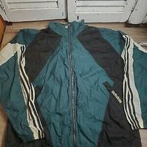 Vintage Adidas Color Block Green & Black Full Zip Jacket Size Xl Photo
