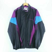 Vintage Adidas Mens Track Jacket Size 2xl 46/48 in Black Zipped Track Top Ef4214 Photo
