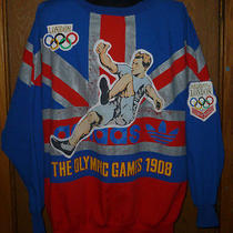 Vintage Adidas Sweatshirt X-Large Olympic Games 1908 London Run Dmc Hip Hop Rare Photo