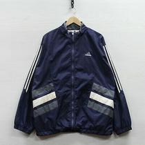 Vintage Adidas Windbreaker Jacket Size Large Navy Blue 90s Photo