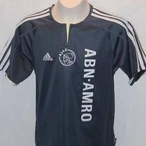Vintage Adidas Youth Ajax Amsterdam Soccer Jersey Abn Amro Medium Free Shipping Photo