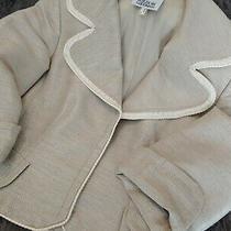 Vintage  Akris Punto Bergdorf Goodman - Beige W/ Ivory Blazer - Us 4 Photo