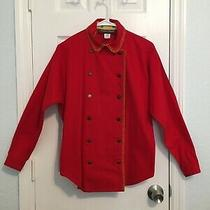 Vintage Alexander Campbell Rockabilly Western Shirt Red Double Breasted Size 8 Photo