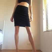 Vintage American Apparel Women's High Waisted Skirt Black Xs Photo