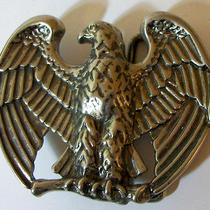 Vintage American Bald Eagle Avon Belt Buckle Silver Tone Metal Nicely Detailed Photo