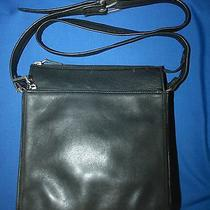 Vintageamerican Classic Fossil1954black Leather Bagcrossbody 75082nice Photo