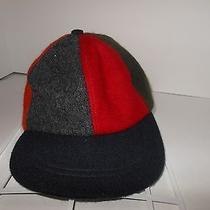 Vintage American Eagle Hat Cap Adjustable Gray Red Yellow Purple Golf Wool Photo