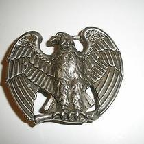 Vintage American Eagle Patriotic Silvertone Pewter Look  Belt Buckle Photo