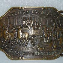 Vintage American Express/butterfields Belt Buckle and Belt Photo