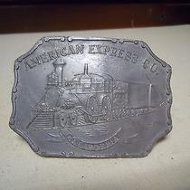 Vintage American Express Co California Belt Buckle Photo