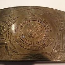Vintage American Express Co Safety Division Utah Terr Brass Large Belt Buckle   Photo