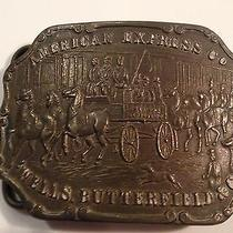 Vintage American Express Co Wells Butterfield Belt Buckle Wells Fargo Tiffany  Photo