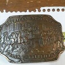 Vintage American Express Co Wells Butterfield & Co Belt Buckle Old West Western Photo