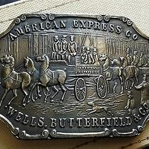 Vintage American Express Company Belt Buckle Faux Coin Napoleon on Back Rare Photo