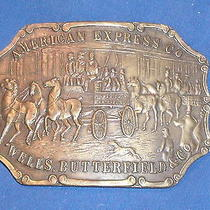Vintage American Express/wells Butterfield Solid Brass Fantasy Buckle Photo