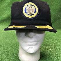 Vintage American Legion Gold Leaf Scrambled Eggs Tall Black Snapback Hat Cap Photo