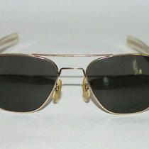 Vintage American Optical Ao 5 1/2 Pilots Sunglasses W/ Case Photo