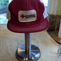 Vintage American Red Cross Hat Snapback Flat Bill Photo