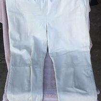 Vintage Andrew Marc 100% White Genuine Leather Pants Sz 8 Side Zip Up Photo