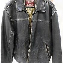Vintage Andrew Marc Men's Large Insulated Dark Brown Leather Jacket Photo