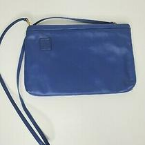 Vintage Anne Klein for Calderon 80's Royal Blue Leather Clutch Purse Bag Photo