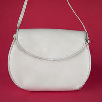 Vintage Anne Klein for Calderon White Leather Evening Shoulder Bag Handbag Purse Photo
