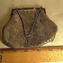 Vintage Antique 1920s Whiting & David  Mesh Silver Tone Purse  Photo