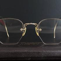 Vintage Antique American Optical 12k Gf Ornate Half Rim Wire Glasses Eyeglasses Photo