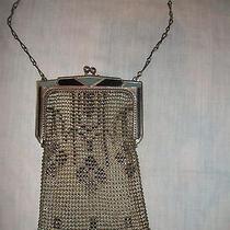 Vintage / Antique Art Deco Whiting & Davis Co. Metal Mesh and Enameled Handbag Photo