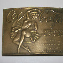 Vintage Antique Brass Tiffany New York Coca Cola Belt Buckle  Photo