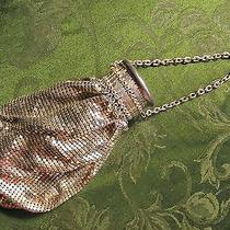 Vintage /antique/ Expandable Whiting & Davis Silver Mesh Metal Purse Bag Classic Photo