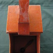 Vintage Antique Shoe Shine Box Wooden Shoe Shine Box  Photo