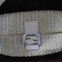 Vintage Antique Silk Fendi Embellished Baguette Evening Hand Bag  Photo