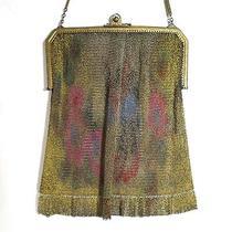 Vintage Antique Whiting Davis Dresden Mesh Purse Bag Handbag Fluted Fringe Photo