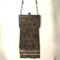Vintage Antique Whiting Davis Mesh Purse Rhinestone Bag Photo