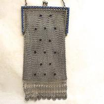 Vintage Antique Whiting Davis Mesh Purse Rhinestone Bag Circa 1920s Photo