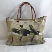 Vintage Anya Hindmarch London Retro Women Surfing Handbag Tote Purse Photo