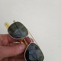 Vintage Ao American Optical 5 1/2 Prescription Aviator Sunglasses Gold Frame Photo
