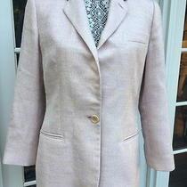Vintage Armani Blazer Us Sz 8 Blush Silk Wool Italy Sz 44 Single Breasted Lined  Photo