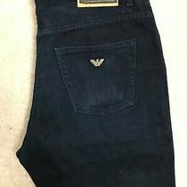 Vintage Armani Jeans Regular Fit Denim Jeans Mens W36 L32 Dark Blue Straight Aj Photo