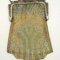 Vintage Art Deco  Whiting and Davis Co Metal Mesh and Enamel Purse Photo