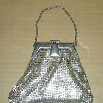 Vintage Art Deco Whiting Davis Silver Mesh Wrist Purse- Photo
